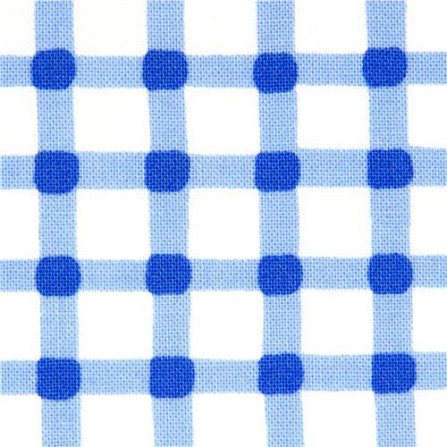 blue checkered cotton fabric Gingham pattern