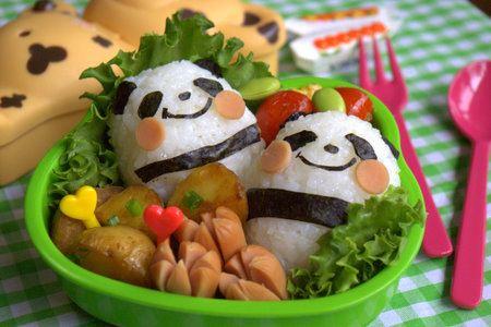 Litte panda bento by luckysundae - perfect for a panda bento box