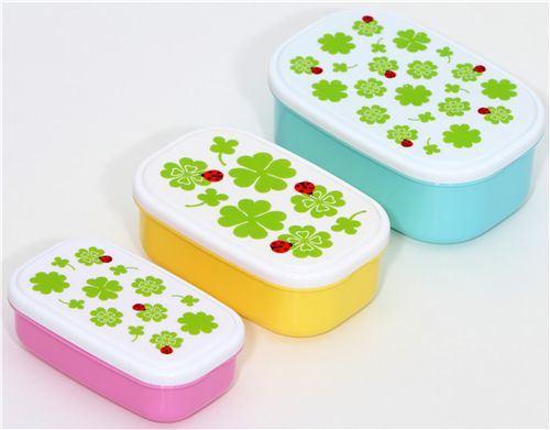 cute cloverleaves Lunch Box Bento Box 3 pcs