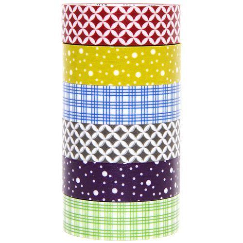 mt Washi Masking Tape deco tape set 6pcs with patterns