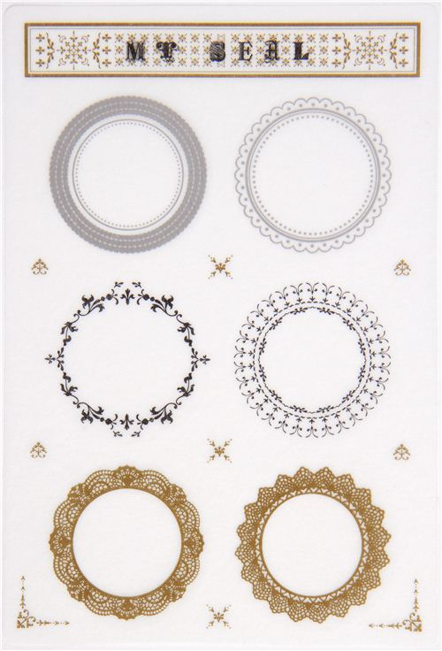 mt Washi Masking Tape seals with ornaments