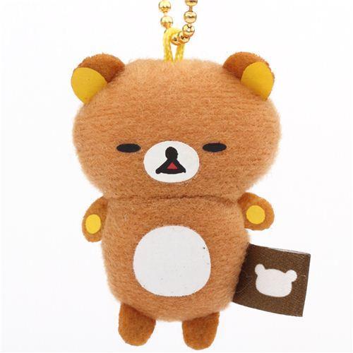 cute Rilakkuma sleeping bear plush charm