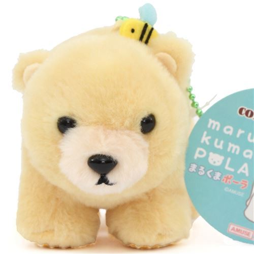 cute yellow bear plush toy from Japan