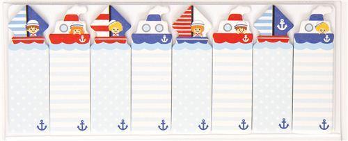 cute bookmark stickers boat sailing ship Post-it