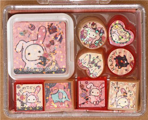 cute Sentimental Circus stamp set by San-X