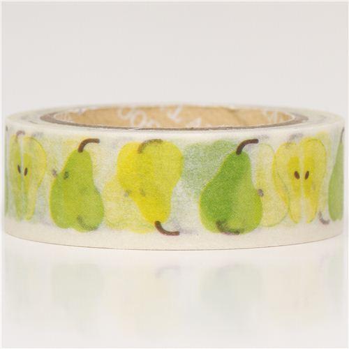 green pears Washi Masking Tape deco tape