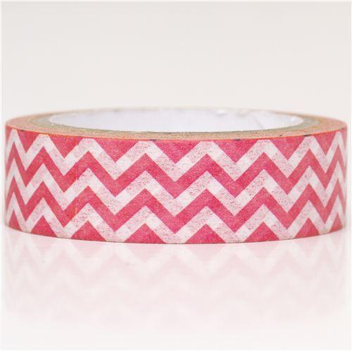 pink-white zigzag Washi Masking Tape deco tape