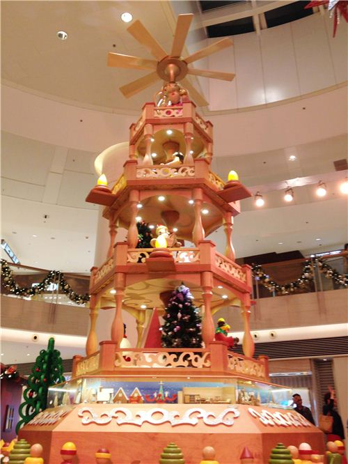 This Christmas pyramid is 8 meters high