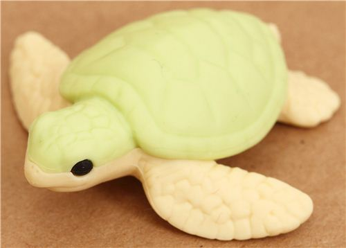 green sea turtle eraser by Iwako