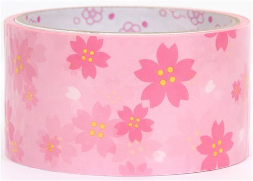beautiful big pink peach blossom Deco Tape