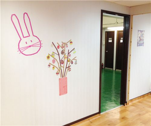 Our Washi Easter craft in the modes4u office
