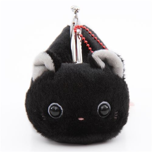 soft cute black cat plush Tsuchineko purse wallet from Japan