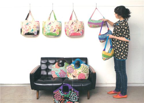 Black, green, pink - that echino fabric just looks great in all colours