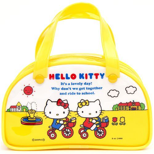 cute yellow mini Hello Kitty handbag Boston Bag