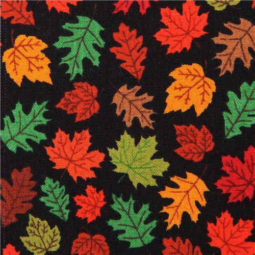 black autumn leaf tree fabric by Timeless Treasures