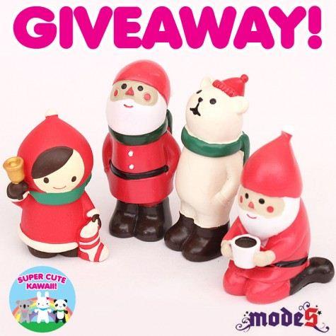 Win these cute Decole Christmas Figurines on Super Cute Kawaii