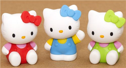 One lucky winner will get a great Christmas present and win these 3 Hello Kitty erasers in our Facebook giveaway
