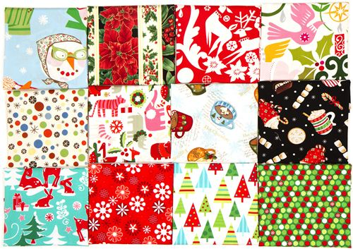 These 12 fabrics are included in the prize
