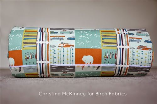 Tutorial for the Sleepy Head Nap Mat by Christina McKinney with birch fabrics
