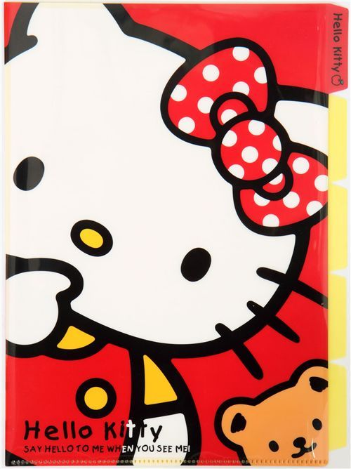 Hello Kitty A4 plastic file folder 5-pocket Kamio