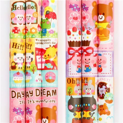 cute Japanese pencil with animals & sweets