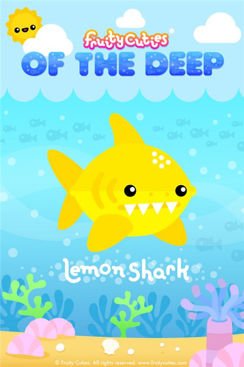 Lemon Shark Fruity Cuties iPod and iPhone wallpaper