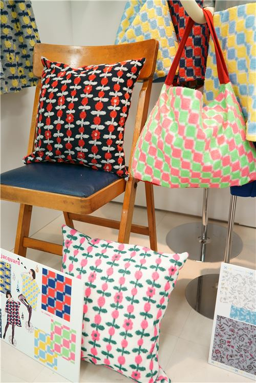 Jacquard fabrics as cushion covers