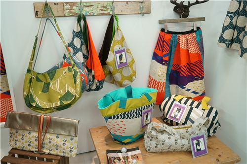 Echino fabrics as bags and skirts