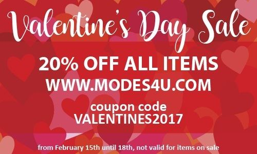 Hurry! Our Valentine's Day Sale on modeS4u ends VERY SOON!