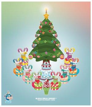kawaii merry christmas