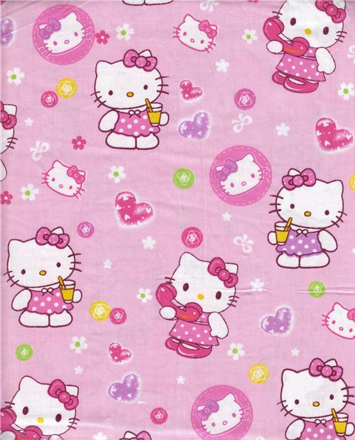 pink Hello Kitty fabric