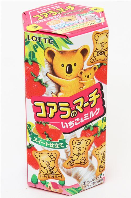 japanese koala strawberry milk biscuits