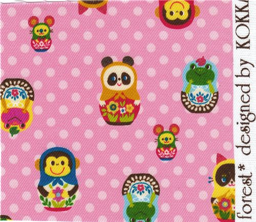 Kokka fabric matryoshka animals