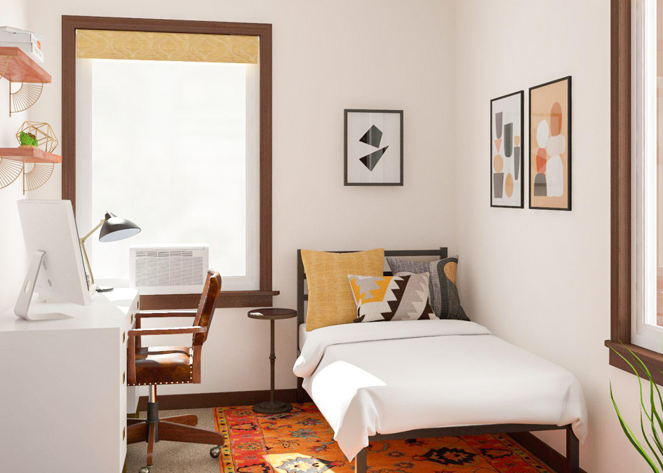 Simple Office-Meets-Guest Room Decorating Ideas