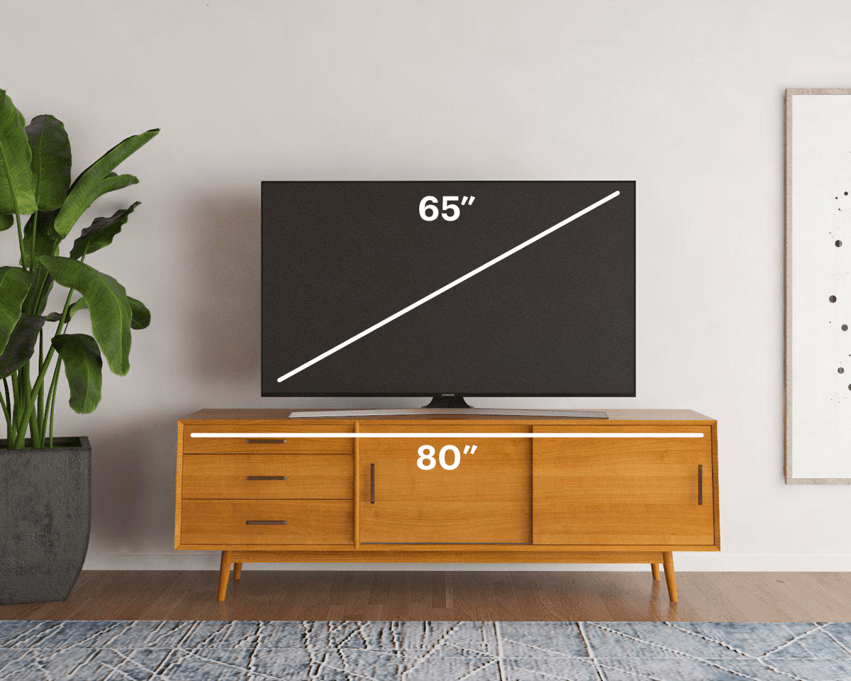How To Find The Best Tv Stand For Your Tv Size Modsy Blog