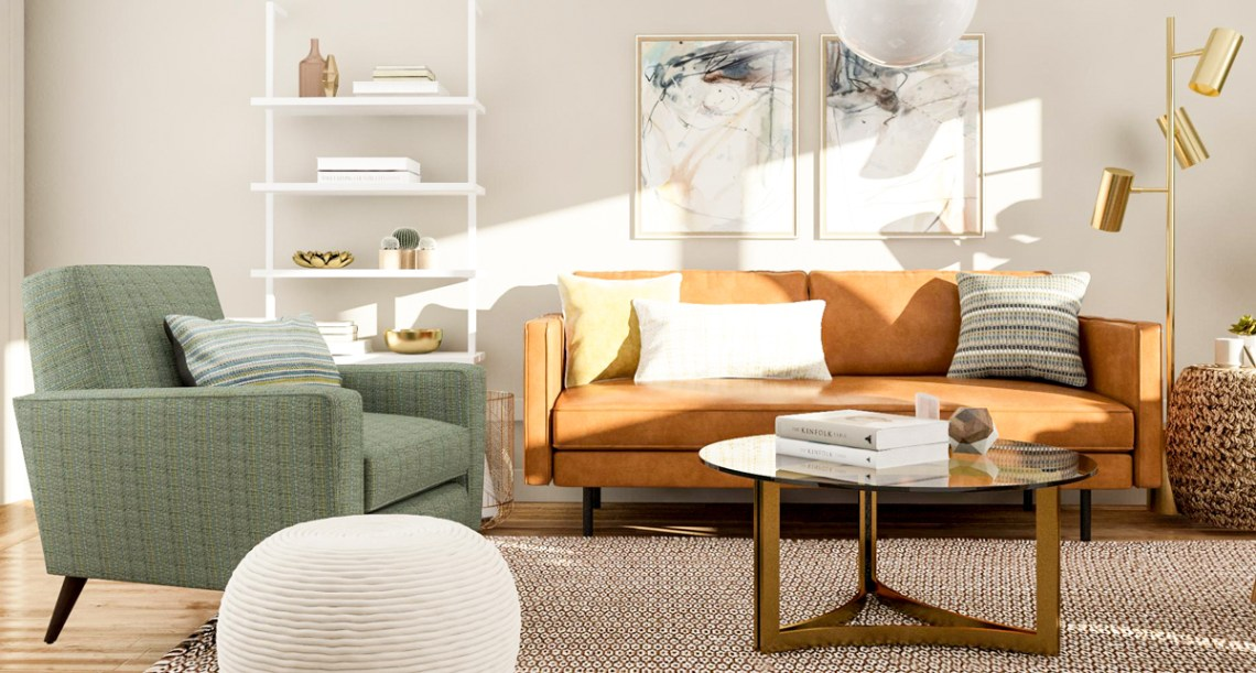 Modern Living Room Design - 5 Ways to Try a Mid-Century Style