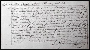 Akt zgonu Stefana Ródzkiego