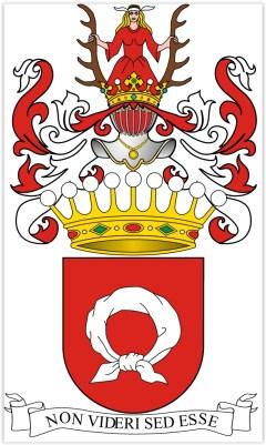 herb Nałęcz w wersji rodziny Moszyńskich
