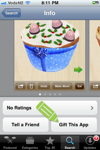 Gift This App on the iPhone