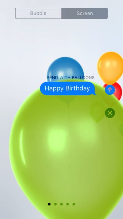 send balloons with iMessage