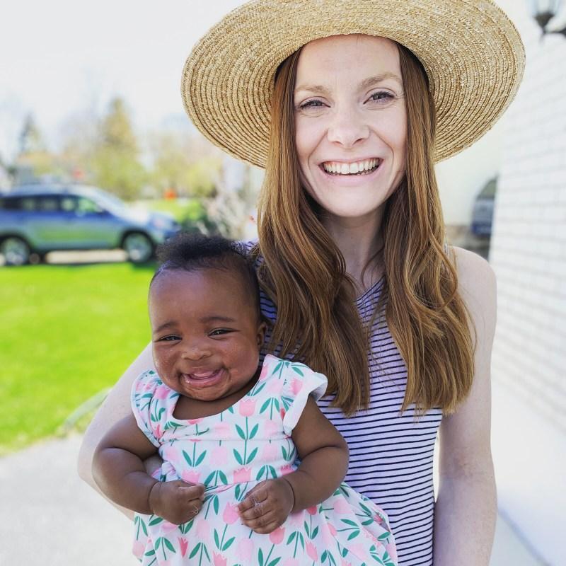 Christina Forzley and Hannah on Easter