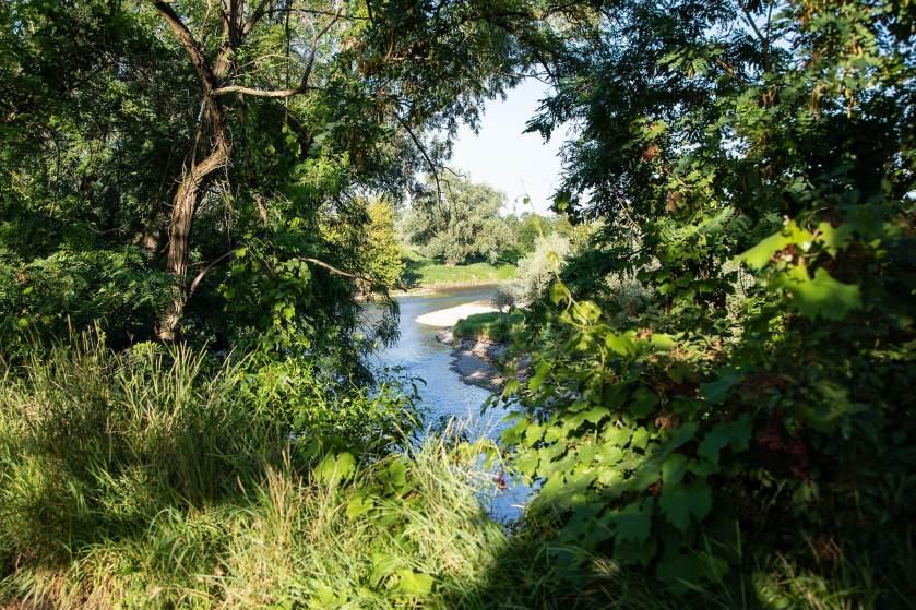 Il fiume Serio, il luogo scelto da Cinzia per il suo ritratto