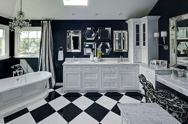 decoracao-de-banheiro-preto-e-branco-criativos