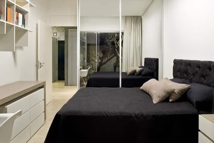 decoração minimalista preto