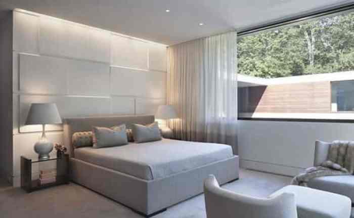 Decoração minimalista painel branco