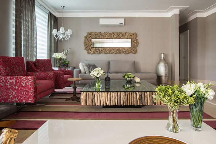 espelhos na decoração da sala Orlane Santos