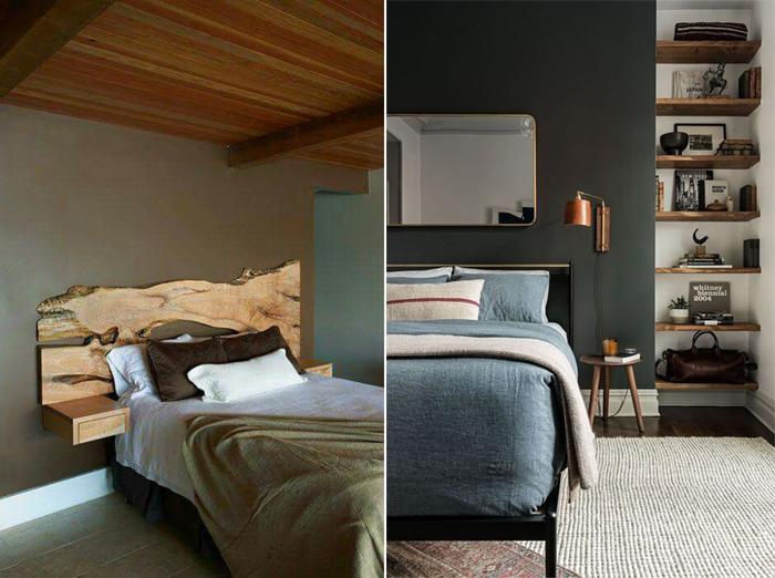decoração de quarto com móveis rústicos