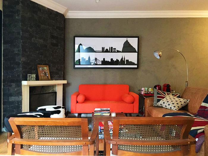 sofás coloridos vermelho