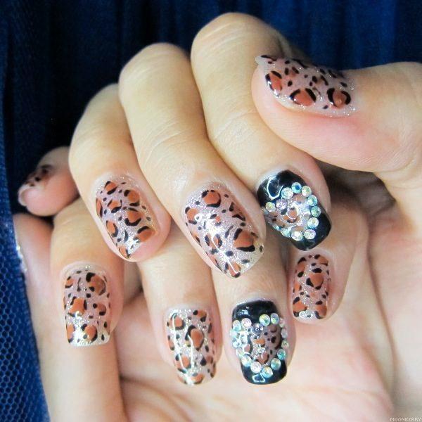 Milly's Hair Lashes Nails Leopard Print Nail Art
