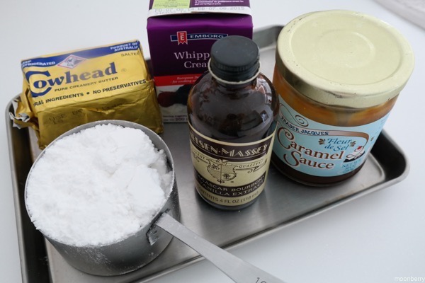 Moonberry Banana Cake Salted Caramel Recipe